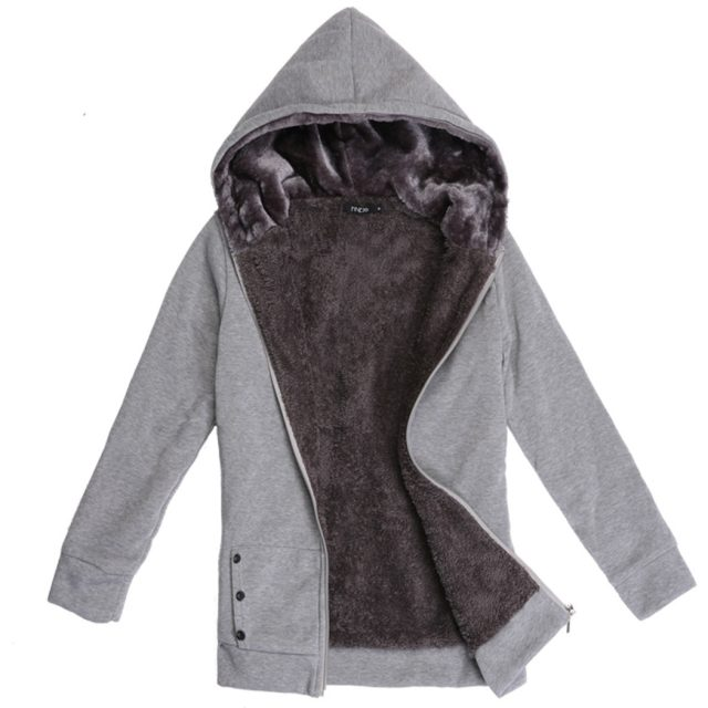 2018 Hoodies Women Fleeve Casaco de Moletons Feminino Casual Sweatshirt Thicken Warm Coat Female Outerwear Jacket Plus Size Image 2