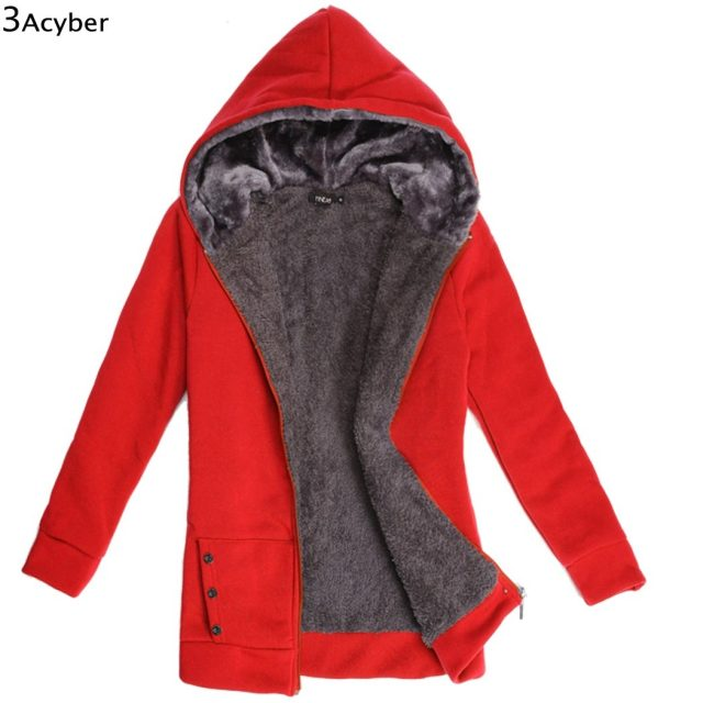 2018 Hoodies Women Fleeve Casaco de Moletons Feminino Casual Sweatshirt Thicken Warm Coat Female Outerwear Jacket Plus Size Image 1