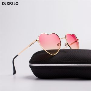 Womens Heart Shaped Sunglasses