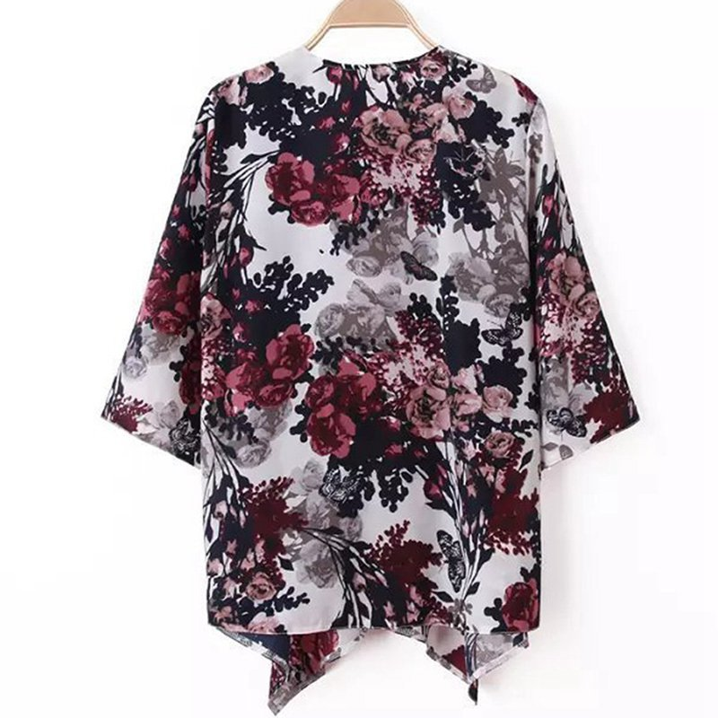 ZANZEA 2018 Summer Style Women Kimono Boho Cardigan Fashion Ladies Shirt Floral Print Blouse camisas femininas Loose Shawl S-6XL Image 3