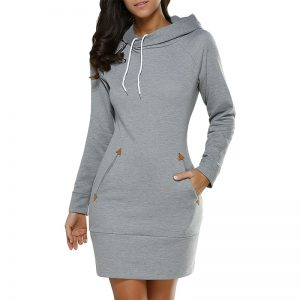 Women's Sports Style Hoodie Dress