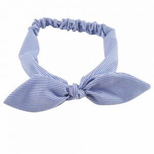 Women's Striped Cotton Bow Headband