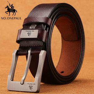 NO.ONEPAUL cow genuine leather luxury strap male belts for men