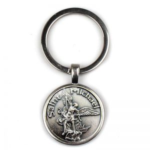 Keychain Archangel St. Michael protects my holy shield charm Russian Orthodox pendant saint female keyring gift souvenir