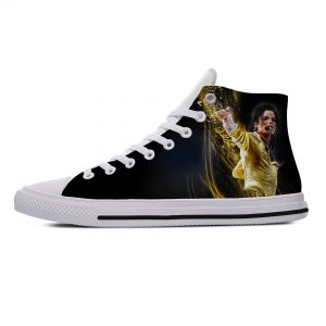 King of Pop Michael Jackson Lightweight Breathable Comfortable Canvas Shoes Men/Women