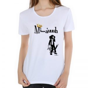 MJ Women T-shirt Short Sleeve Casual T-shirt Tees Tops Produced To Commemorate Michael Jackson