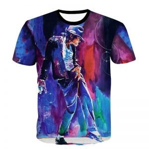 Michael Jackson Painting Print T Shirt Men/Women Camiseta T-shirt MJ Dancing Top Tee