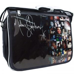 Michael Jackson Fashion Casual PU PVC Printed Casual Zipper Student Shoulder Bag