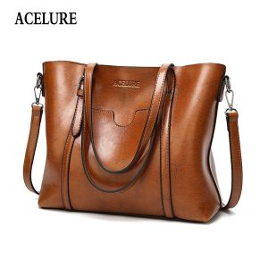 ACELURE Women bag Oil wax Women's Leather Handbags